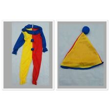 Kids Clown Jester Children Circus Fancy Dress Costume