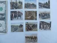 Nice Lot of 10 Original Dated WWI German Military Cigarette Cards, Salem, WWII,