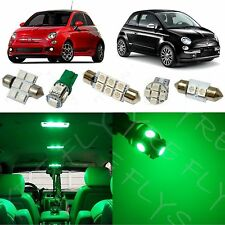3x Green LED lights interior package conversion kit for 2012-2015 Fiat 500 #F51G