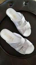 LA PLUME  Silver Slide Sandals size 38  NEW no box