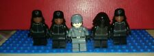 Lego Star Wars minifigures - First Order Officer leading 4 Crew