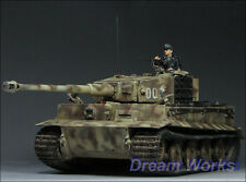 Award Winner Built Tamiya 1/35 Zimmerit Tiger I Late Version +Figure