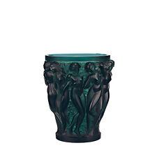 Lalique Crystal Small Bacchantes Vase Green BNIB