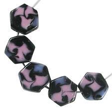 Trez Handmade Glass Lampwork Beads (Set of 10; Small Hole 1.5mm) Tile 409