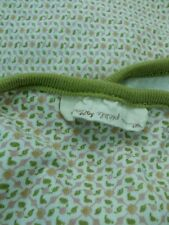 "Petunia Pickle Bottom Green Pink White Baby Blanket Light Weight 43"" x 35"""