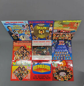 99880144 Konvolut Schallplatten Schlager Hitparade Sampler 9 Stück
