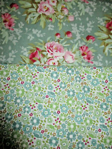 FAT QUARTERS TILDA WOODLAND COLLECTION GREEN/SAGE SHADES, 100% QUILTING COTTON