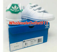 $55 New Adidas Little Kids Originals Stan Smith Size 2.5 Sneakers Shoes White