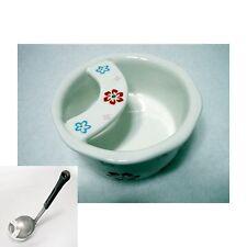 Ceramic Vivid Flower Printing Ladle Rest Rice Paddle Stand Holder Tableware New