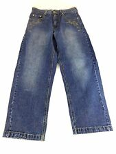 SOUTH POLE MENS DARK WASH DENIM BLUE STRAIGHT CUT JEANS SIZE 29 REALLY NICE!