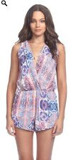 """NWT $119 Heartloom """"Lilah"""" Small Multi-color Romper Cross-front Summer"""