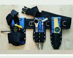 Scaffolding Nylon Tool Belt Set FULL Tools 1921mm Ratchet Spanner 716 Tape level