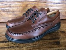 "Mens Ecco Casual ""Seawalker"" Walking Shoes Size EU 42 US 9 Brown Leather"