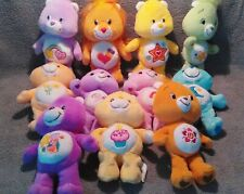 care bears, lot of 11 plush care bears, 9 inches high