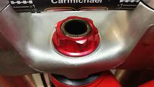 Honda CR 125 250 500 80 150  Steering stem Nut Billet RED 1988 1989 1991 - 2001
