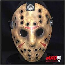 Deluxe Freddy vs Jason viernes película 13th réplica de máscara de Hockey Horror Coleccionable