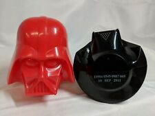 2011 Galerie Darth Vader Helmet Containers Red & Black Dated 10 Sep SADC06