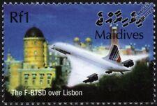 Air France CONCORDE F-BTSD (Lisbonne) timbre avion d'avion de ligne supersonique