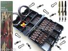 Carp Fishing Tackle Box Weighs Lead Clips Hooks Swivels Terminal Hair Rigs Links