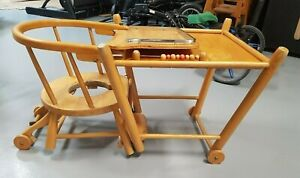 RETRO 40/50's BABY HIGH CHAIR/TABLE COMBO (Rare - Not New)