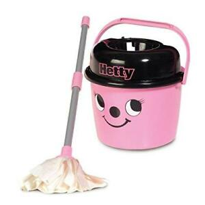 Hetty Mop And Bucket Pink Cleaning Toy Child Playset