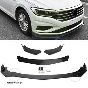 For VW Jetta Sedan 2019-2021 Front Bumper Lip Spoiler Splitter Wing Gloss Black