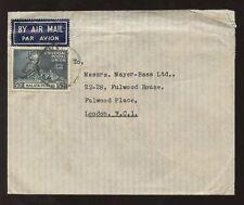 MALAYA PERAK 1949 UPU 50c SOLO FRANKING AIRMAIL to GB