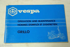 Betriebsanleitung Operation and Maintenance Piaggio Vespa Grillo