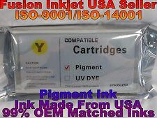 Compatible Epson Stylus Pro 4900 Yellow Pigment ink 200 ml T653400 cartridge qaz