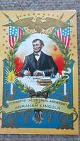 PRESIDENT ABRAHAM LINCOLN CENTENNIAL Patriotic Postcard, Embossed, VINTAGE