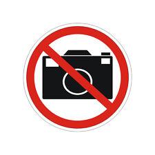 Sticker plastifié INTERDICTION DE PHOTOGRAPHIER - 10cm x 10cm
