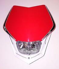 Mascherina Portafaro Moto Racetech V-face Bianco Rosso Honda Headlight Rtech