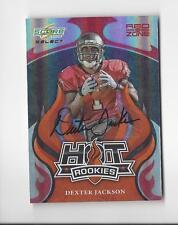 2008 Select Hot Rookie Red Zone #7 Dexter Jackson AUTOGRAPH Buccaneers /25