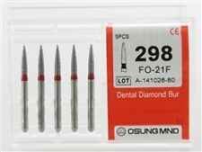 Dental Diamond Burs, Fine Grit Multi-Use, 5 Pcs/Pk [298FO-21F]