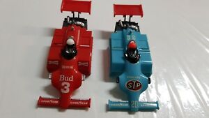 TYCO INDY STP AND BUDWEISER  PAIR  BODIES ONLY HO SLOT CAR BRAND NEW.NICE!
