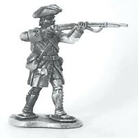 French Marine, Snowshoes, Tricorn Jacket Firing FIW 28mm Unpainted Wargame