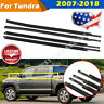 4PCS Window Moulding Weatherstrip Seal Belt For 2007-17 18 Toyota Tundra CrewMax