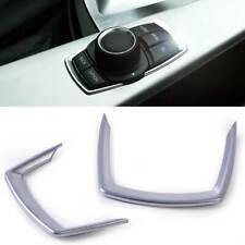 2pcs Interior Multimedia Button Frame Cover Trim fit BMW 1 2 3 4 GT Series 13-16