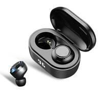 Wireless Bluetooth 5.0 Earbuds TWS HiFi Waterproof Headphone Headset Stereo L2Q8