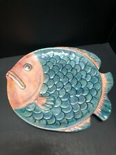 irredescent Blue And Pink Fish Dish