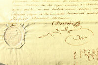 1797 Manuscript french revolution amazing notary signature STAMP