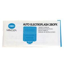 Minolta Auto Electroflash 280PX Bedienungsanleitung / Instruction Manual