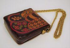 1970's Handmade & Painted ELYSE STONE Psychedelic Shoulder Bag Multi Color