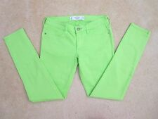 NEW Abercrombie Womens Neon Green Skinny Jeans Size 2