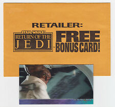 Star Wars Return of the Jedi Widevision 3D Ackbar Redemption Card 3di + Envelope