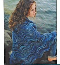 BEAUTIFUL LACY SHOALWATER SHAWL to KNIT by EVELYN CLARK for FIBER TRENDS