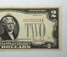 1928-G $2 Red Seal Dollar Bill Legal Tender Note Better Grade (P206)