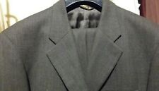 Extra Tall BACHRACH 2PC 3BTN Men's Gray Suit Size 42 XL Pants 36/34 100% Wool