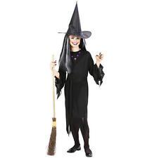 Childrens Strega Halloween Costume Vestito Set 128Cm 5-7 Anni