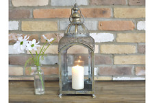 Large Metal Garden Lantern Candle Holder Antique French Vintage Style